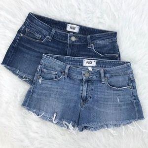 PAIGE bundle of 2 cutoff jimmy jimmy shorts